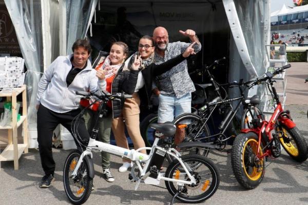 Sun City Nantes à créé l'évènement au Jumping International de La Baule en offrant un VAE !
